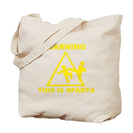 Warning! This is Sparta Tote Bag