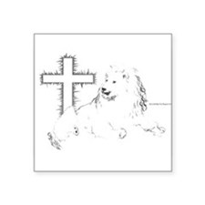 "Lion Of Judah Square Sticker 3"" x 3"""