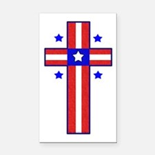 Christian Cross Rectangle Car Magnet