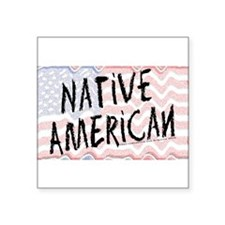 Native American Flag Square Sticker 3