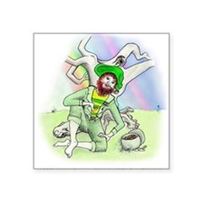 St Patrick Day Leprechaun Square Sticker 3