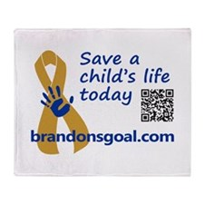 Save a child's life Throw Blanket