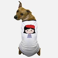 Cute French Girl cartoon Dog T-Shirt