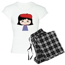 Cute French Girl cartoon Pajamas