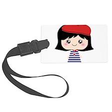 Cute French Girl cartoon Luggage Tag