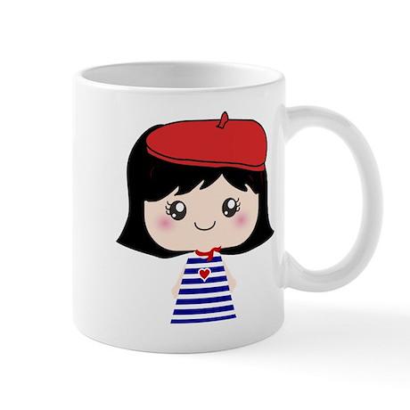 Cute French Girl cartoon Mug