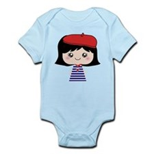Cute French Girl cartoon Onesie