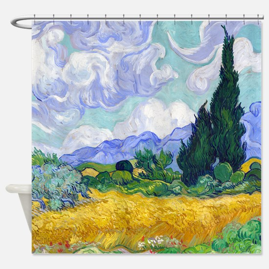 Van Gogh - Wheat Fields Shower Curtain