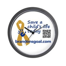 Save a child's life Wall Clock