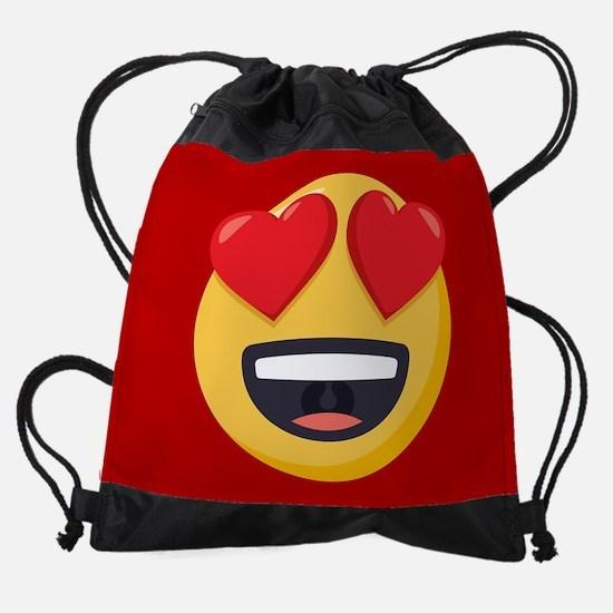 Heart Eyes Emoji Drawstring Bag