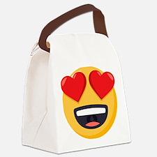 Heart Eyes Emoji Canvas Lunch Bag
