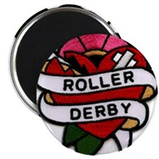 """Roller Derby Heart Patch Look 2.25"""" Magnet (10 pac"""
