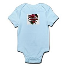 Roller Derby Heart Patch Look Infant Bodysuit