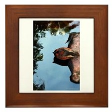 Mandarin Duck Framed Tile