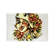 Derby Doll Rectangle Magnet (100 pack)