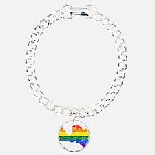Latvia Rainbow Pride Flag And Map Bracelet