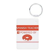 Spanish Teacher Powered by Doughnuts Keychains