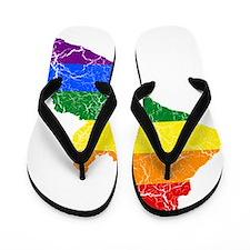 Liberia Rainbow Pride Flag And Map Flip Flops