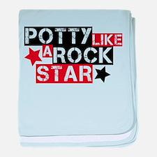 Potty Like A Rock Star baby blanket