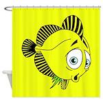 Zebra Striped Fish Shower Curtain