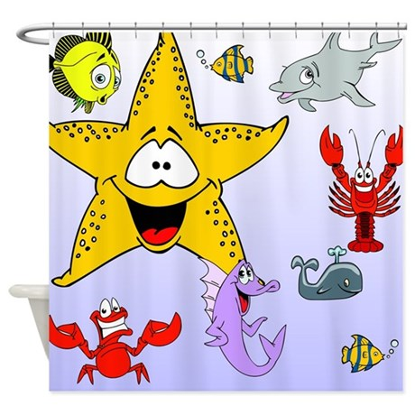 Sea Creature Shower Curtain By Stolenmomentsph