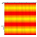 Yellow and Orange Striped Shower Curtain