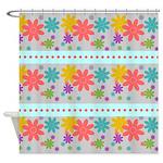Pretty Flower Pattern Shower Curtain