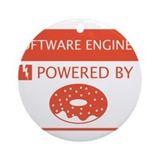 Software Engineer Powered by Doughnuts Ornament (R