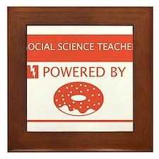 Social Science Teacher Powered by Doughnuts Framed