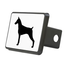 Doberman Rectangular Hitch Cover