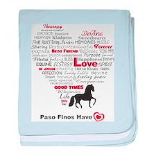 Paso Finos Have Heart baby blanket