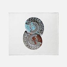 ammonite ying and yang shirt.png Throw Blanket