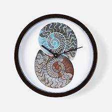 ammonite ying and yang shirt.png Wall Clock
