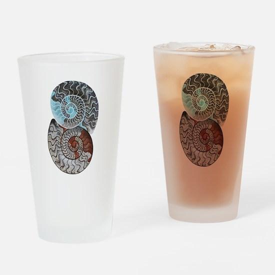 ammonite ying and yang shirt.png Drinking Glass