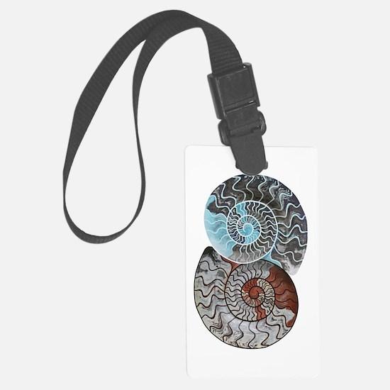ammonite ying and yang shirt.png Luggage Tag