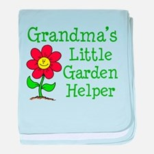 Grandmas Little Garden Helper baby blanket