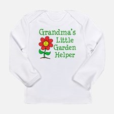 Grandmas Little Garden Helper Long Sleeve Infant T