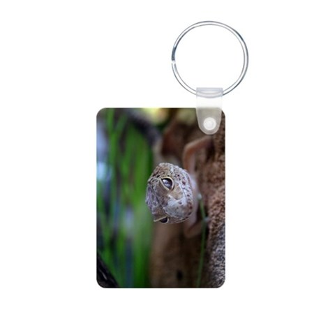 closeup of a lizard.jpg Aluminum Photo Keychain