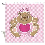 Cute Teddy Bear Shower Curtain