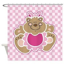 Cute Teddy Bear Shower Curtain