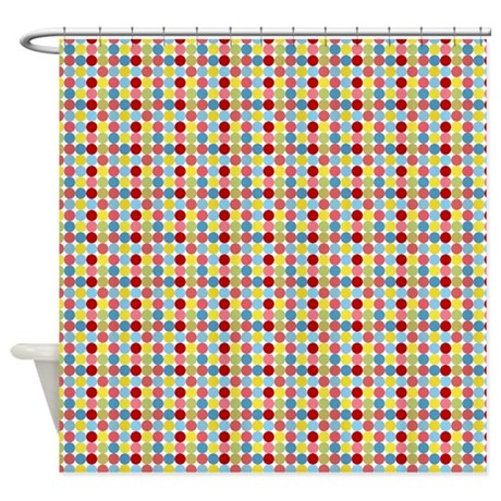 Polka Dots Shower Curtain By Stolenmomentsph