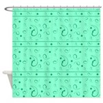 Funky Green Shower Curtain