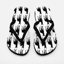 Great Dane Silhouette Flip Flops In Black Flip Flo