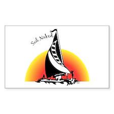 Sail Naked Rectangle Decal