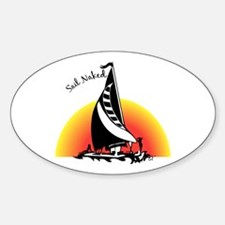 Sail Naked Oval Decal