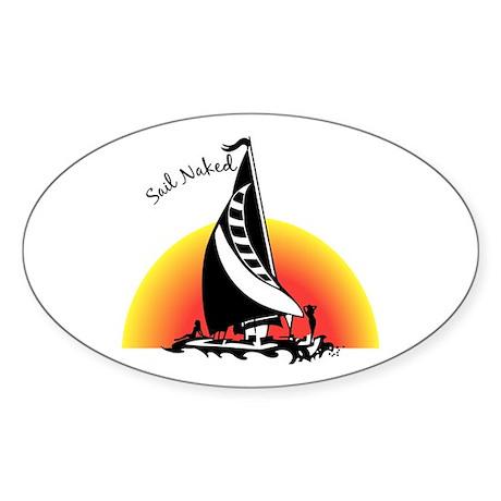 Sail Naked Oval Sticker