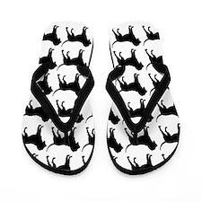 Bloodhound Silhouette Flip Flops In Black Flip Flo
