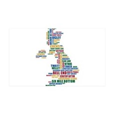 Funny, silly, and strange place names uk Wall Decal