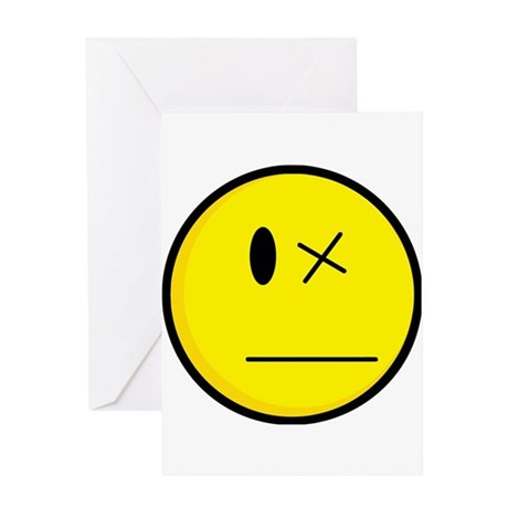 Smiley Face Eye Out Greeting Card