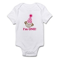 Im ONE Monkey Girl Infant Bodysuit
